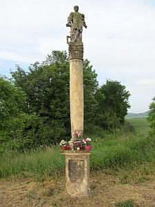 Sloup se sochou sv. Vavřince