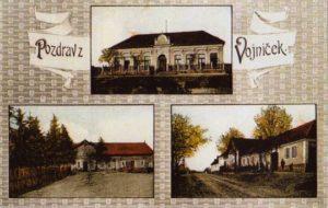 Historická fotografie obec Vojničky